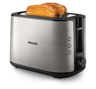 Philips Viva Collection, 2s Slice Toaster ,Stainless, 950W, Black/Silver.