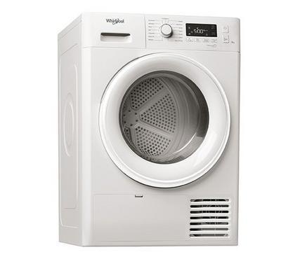 ويرلبول فريش كير بلس مجفف ملابس، 8 كيلو، بنظام المكثف، أبيض