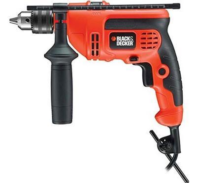 Black+Dacker, Hammer Drill 710 Watts 13mm with Accessories, Orange