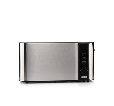 Princess Long Slot Toaster, 1000W, Metallic Silver
