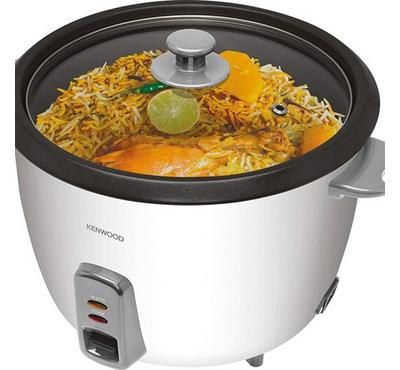 Kenwood Rice Cooker With Aluminum Steamer Glass Lid,1.8L , White.