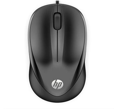 HP 1000, Wired Mouse, Black