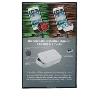 Switch 3-in-1 UV Phone Sanitizer with 10 Watts Wireless Charging , White