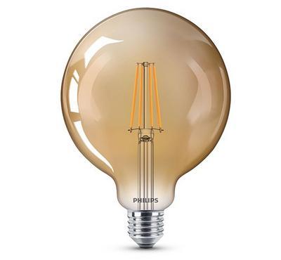 فيليبس، مصباح (ليد) كلاسيكي، 8-50  واط، ذهبي