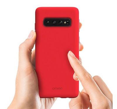 Araree TYPO-SKIN Galaxy S10e Mobile Back Cover Case Red.