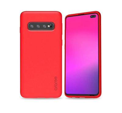 Araree TYPO-SKIN Galaxy S10 Plus Mobile Back Cover Case, Red