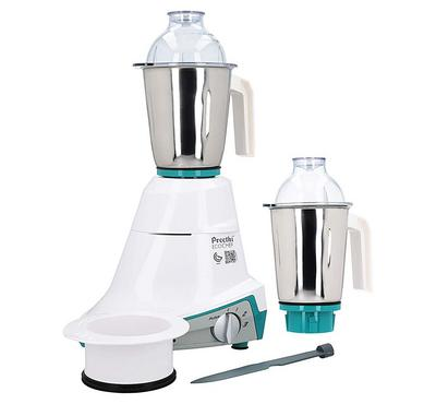 Preethi Eco Chef 2in1 Mixer Grinder Blender Stainless,1.25L, 600W, Green/White.