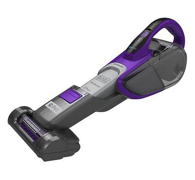 Black+Decker Cordless Hand Vacuum Cleaner,0.5L,0.5L , 27Wh Titanium Grey/Purple.