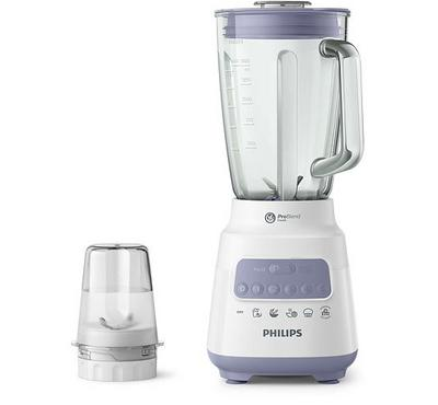 Philips Series 5000 1.5L Blender With Mill Glass Jar 700W Lavender/White.