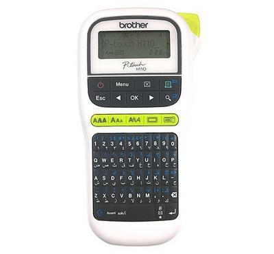 برذر، ماكينة لصق ملصقات بي تتش، 16 حرفًا ، 10 أنماط خطوط ، 253 رمزًا ، 15 إطارًا ، أبيض