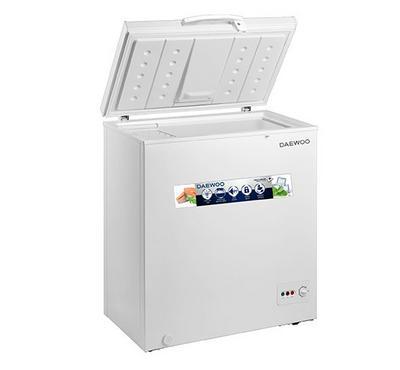 Daewoo Chest Freezer,150Ltrs Cross, Net Capacity 99 Ltrs, White.
