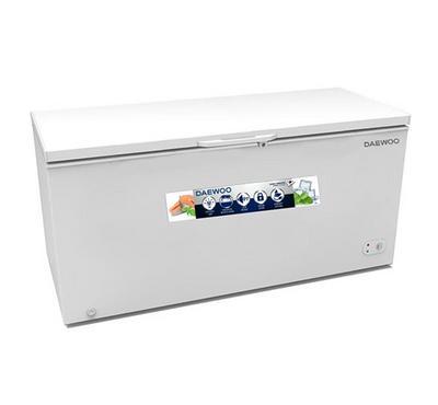 Daewoo Chest Freezer,310Ltrs Cross, Net Capacity 198 Ltrs, White.