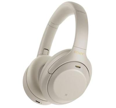 Sony Wireless Over Ear Noise-Canceling Headphones, Silver