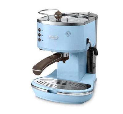 Delonghi, Coffee Maker, 15 Bar Pump Pressures, Light Blue