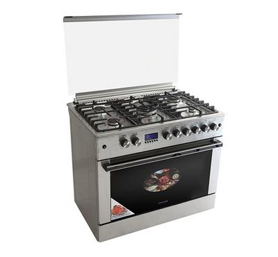Berloni Gas Cooking Range With Convection,90x60cm, Full Safety, Stainless