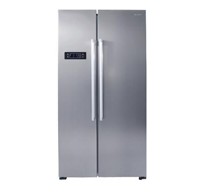 Sharp SBS Fridge Inverter Inox. 2 Doors,645.0L Cross, 500L Net Fridge, 145L Net Freezer,Inox