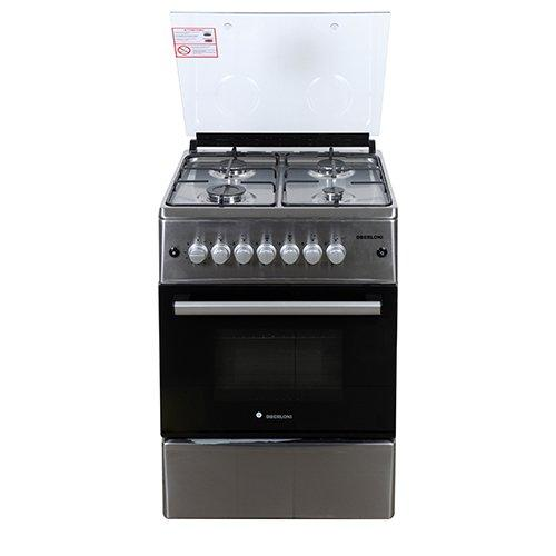 Berloni Gas Cooking Range With Gas Grill 60x60cm 4 Burner Stainless Steel Extra Bahrain
