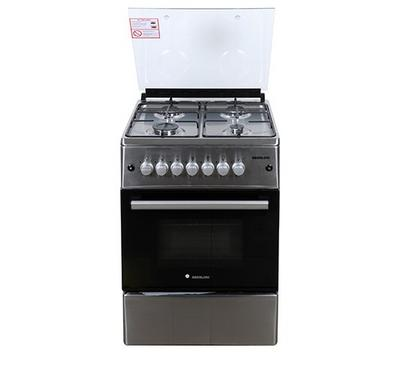 Berloni Gas Cooking Range With Gas Grill,60x60cm,4 Burner, Stainless Steel