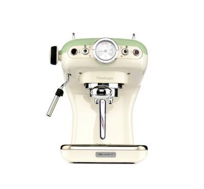 Ariete, Vintage Espresso Coffee Maker, 850W, 15 bar, Green/Cream