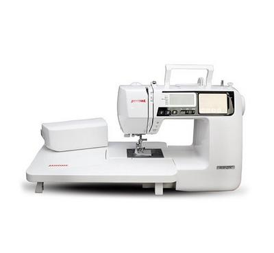 Janome Sewing Machine, Motor and Accessories Included, White.