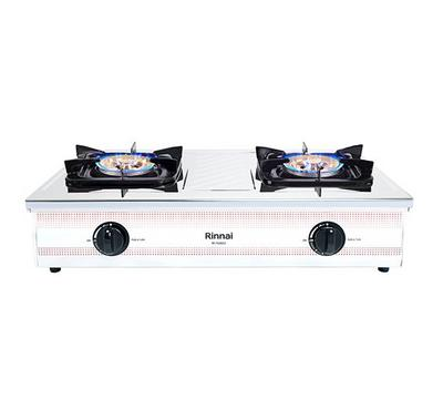 Rinnai 2 Burner Gas Stove,, Stainless Steel Front Panel and Casing, Heavy Duty