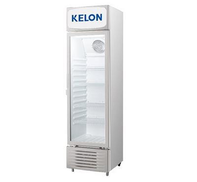 Kelon, 370L Visible Chiller, 282L Net Capacity, Single Glass Door, Grey