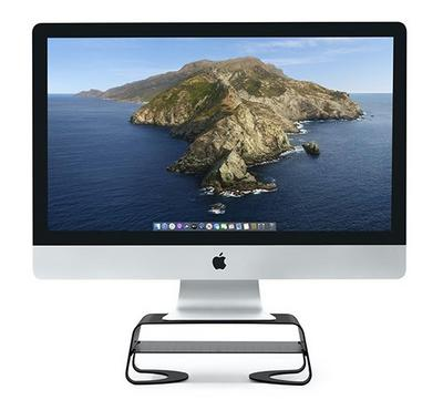 TWELVE SOUTH Curve Riser for iMac and Other Monitors, Black