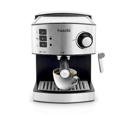 Saachi Coffe Maker, 15 Bar Automatic Steam Pressure Pump,Silver.