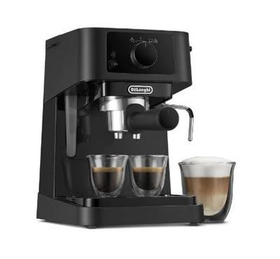 Delonghi Coffee Maker, Stainless Steel Espresso , 15 Bar Pump Pressures, Black.