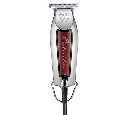 Wahl DETAILER 8081 Professional Corded Hair Trimmer Silver/Red.