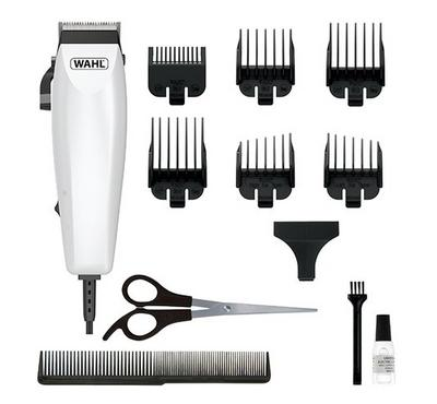 Wahl EASY CUT 9314 Corded Hair Clipper,12pcs Accessories Kit, White.