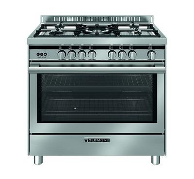 Glemgas 90X60 Full Safety Gas Cooker, 5 Gas Burner, Titanium