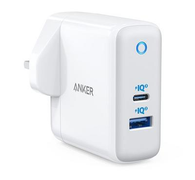 Anker PowerPort + Atom III Wall Charger with Type C Power Delivery 60W, White