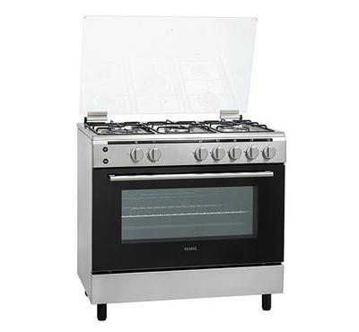 Vestel, 90x60cm Gas Cooking Range With Grill Full Safety, Silver