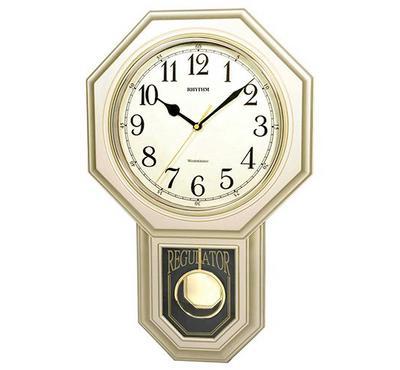 ريذم، ساعة حائط، أبيض/ذهبي