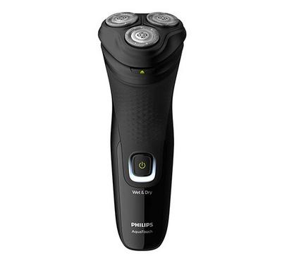 Philips Aquatouch Shaver, 1200 Rechargeable Mens Shaver, Wet&Dry, Deep Black