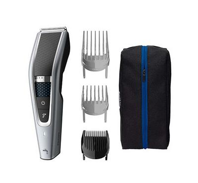 Philips, HairClipper Series, 5000 Washable Cordless Hair Clipper, Black/Silver