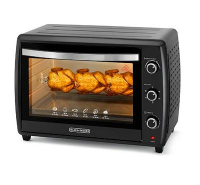 Black+Decker, Electric Oven Toaster With Convection, 55 L, 2000W, Black