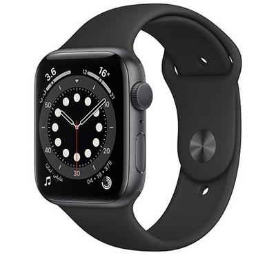 Apple Watch Series 6 GPS, 40mm Space Gray Aluminium Case with Black Sport Band
