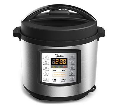 Midea, Multi-Function Electric Pressure Cooker 8.0L, 1200W,  Black/Stainless Steel