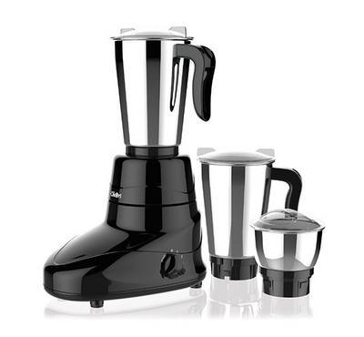 Clikon SOLID, 3in1 Mixer Grinder Blender Stainless Jar, 1.5L, 600W, Black