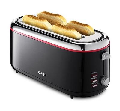 كليكون، حمّاصة خبز - 4 فتحات شرائح، 300 واط، أسود