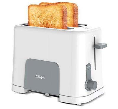 كليكون، محمصة خبز، فتحة لشرحتين، 870 واط، أبيض