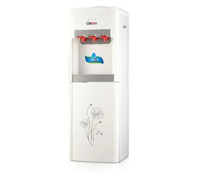 Clikon, 3in1 Water Dispenser Floor Standing With Storage Cabinet, 550W, White