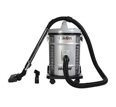 Clikon, POWERVAC, Vacuum Cleaner Drum Type Steel Body, 18.0L, 18000W, Ash Silver