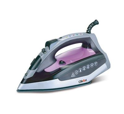 Clikon, Steam Iron With Smart Auto-Off, 2400W, Silver/Grey/Violet