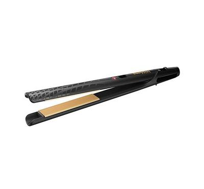 Babyliss 2100 Watts Gold Ceramic 24mm Hair Straightner Temperature+Dryer,Black.