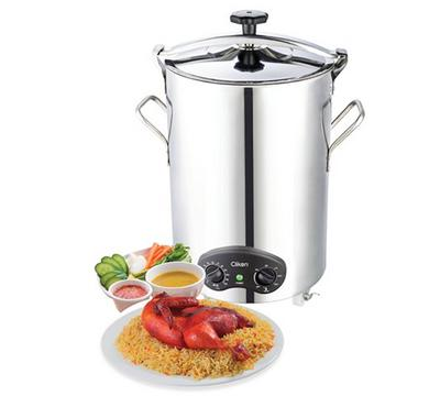 Clikon, Mandi Maker With Stainless LID Stainless Body, 70.0L, 1800W, Silver