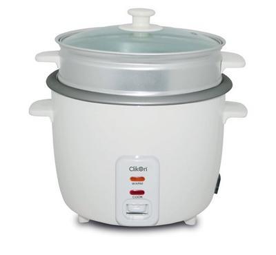 Clikon 1.5L Rice Cooker Glass Lid 500W White
