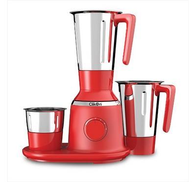 Clikon, Mixer Grinder Blender, 3in1, 750W, 1.5L, Red